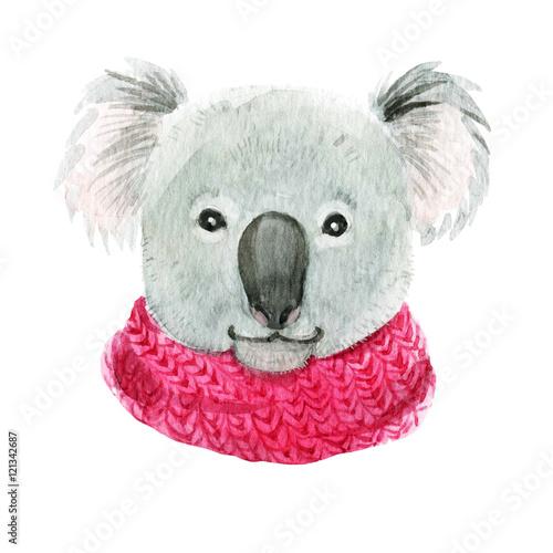 Koala in a pink scarf - 121342687