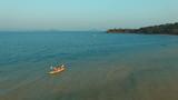 sailing kayak on sea beach koh payam island ranong southern of thailand