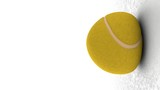 palla da tennis al rallentatore