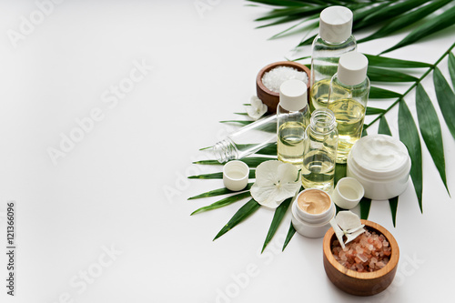 aromatherapy theme , handmade cosmetic. space for text © pauchi