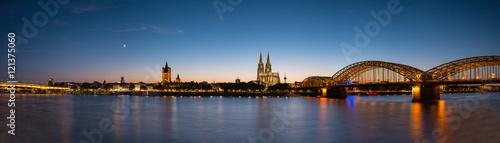 Köln Sonnenuntergang Panorama - 121375060