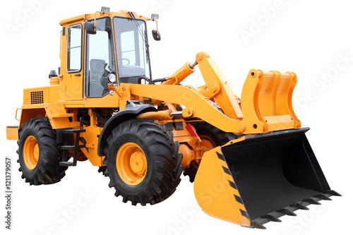 Fotobehang Trekker Yellow tractor.