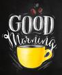 Poster good morning chalk