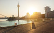 Media harbor at the Morning in Dusseldorf, germany