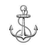 Vector illustration of a nautical anchor