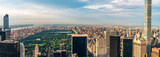 Fototapety Panorama cityscape view on Central Park, New York, seen from the Rockefeller building
