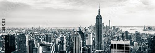 Aluminium New York view on downtown of Manhattan, New York City