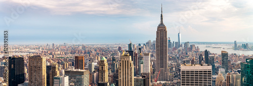 view on downtown of Manhattan, New York City - 121392853