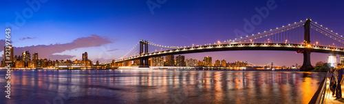 Manhattan Bridge Panorama mit New York Skyline  © eyetronic