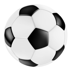classic black white leather vector soccer ball / Fußball schwarz weiß vektor klassisch retro