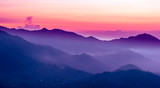 Fototapety purple sunset in the mountains
