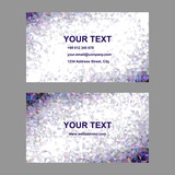 Purple triangle mosaic business card design