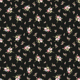 Seamless floral pattern with little red roses - 121400866