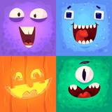 vector set of halloween badges