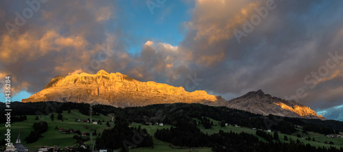 Südtirol - Dolomiten - Badia - Alpenglühen am Heiligkreuzkofel
