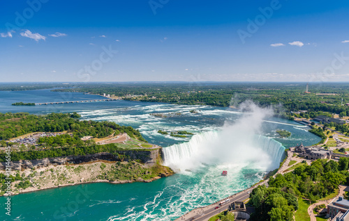 Aerial view of Niagara horseshoe falls. Ontario Canada Photo by Olesya