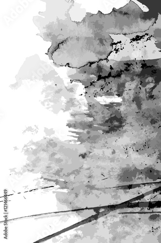Abstract ink paint vector background © shooarts