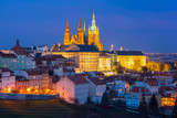 Prague Castle, Hradcany and Little Quarter in old town at night of Prague, Czech Republic