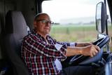 Man driving a truck