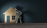 3d Objekt Haus mit Schlüssel, geschenk zum einzug ins neue Haus - 121484841