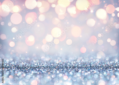 Plakát Glittering Effect For Luxury Christmas - Shining Background