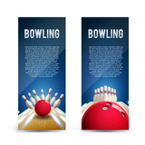 bowling realistic theme eps 10  broshure - 121488832