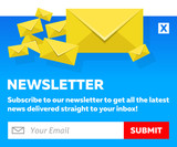 Blue Email Newsletter Subscribe Form
