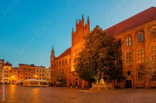 Fototapeta Torun, Poland: old town, city hall.