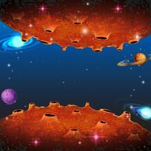 Szene mit Planeten in Galaxie
