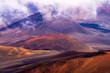 haleakala crater, clouds, maui