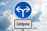 Schild 121 - Goldgrube