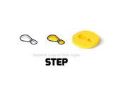 Step icon in different style