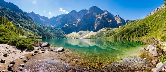 Fototapeta górskie jezioro - panorama