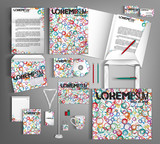 Corporate Identity set with spots.