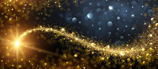 Christmas background with Gold Star