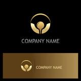 golf ball icon gold logo