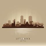 Little Rock Arkansas city skyline vector silhouette