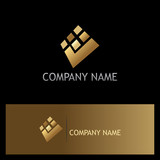 square check mark digital gold logo