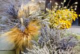 dried flowers, lavander, wheat, yarrow