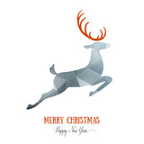 Merry Christmas card creative decoration with animal. Happy New