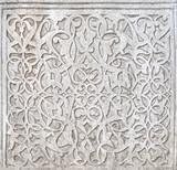 Fine plaster work mosaic in Khiva