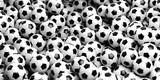 Soccer balls background. 3d illustration - 121597013