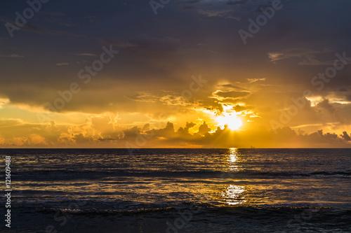 Stunning sunrise/Beautiful tropical sunrise on the beach.
