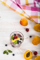 Homemade lemonade with fresh berries
