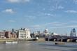 View over River Thames to Blackfriars Bridge, London