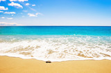 Beautiful beach with white sand and turquoise sea. - 121624061