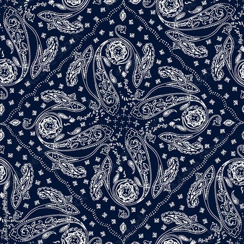 Ornamental paisley pattern, decoration floral ornament, boho painting motif - 121629037
