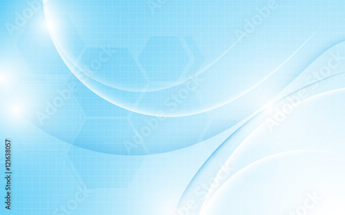 abstract smooth line wave pattern with hexagon texture technology innovation concept design background