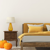 Bedroom with decoration for Halloween