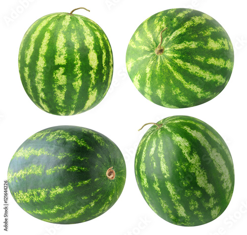 Isolated watermelons collection